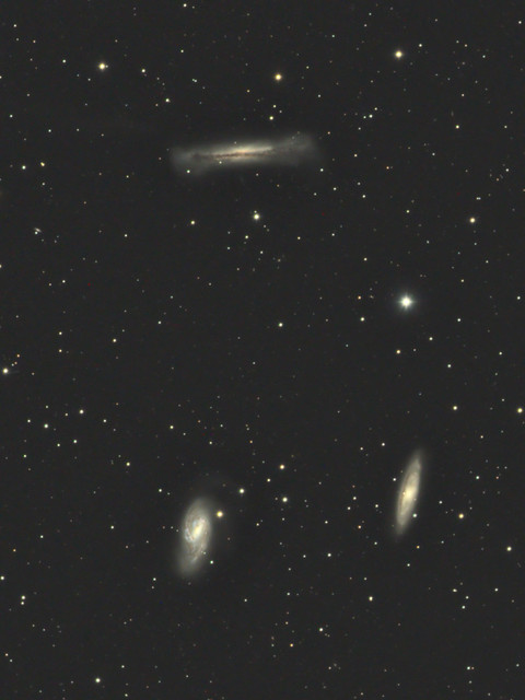 しし座トリオ(M65、M66、NGC3628)