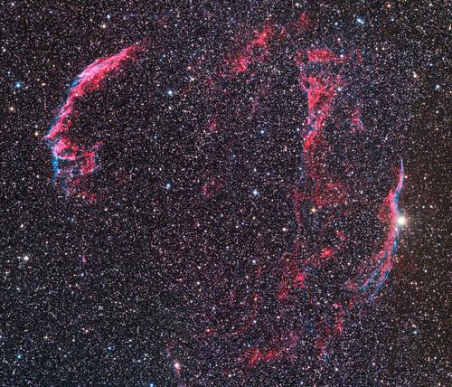 網状星雲_NGC6992、NGC6960